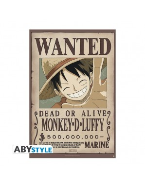 "One Piece - poster ""WANTED LUFFY NEW..."