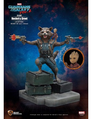 Rocket & Groot - Guardians of the Galaxy 2 1/1 statuette 128 cm