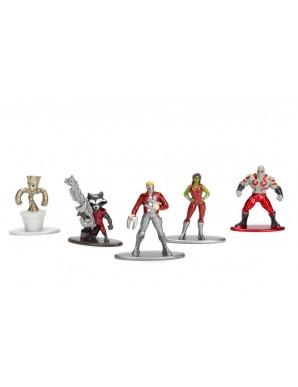 Les Gardiens de la Galaxie - Marvel Comics pack 5 figurines Diecast Nano Metalfigs  4 cm