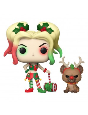 Harley Quinn avec Helper - DC Comics POP! Heroes Vinyl figurine DC Holiday 9 cm