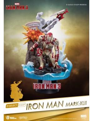 Iron Man 3 diorama PVC D-Select Iron Man Mark XLII 15 cm