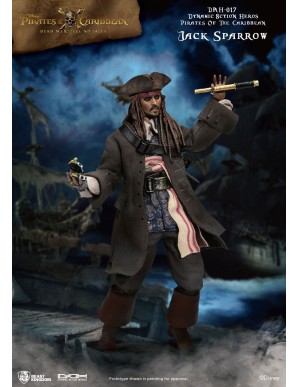 Pirates des Caraïbes figurine Dynamic Action Heroes 1/9 Jack Sparrow 20 cm