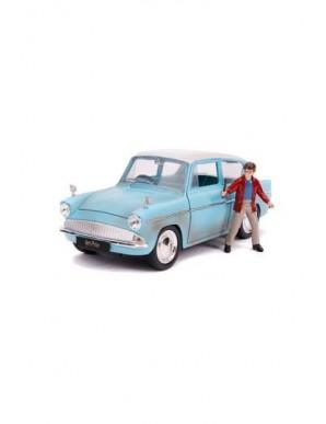 Harry Potter 1/24 Hollywood Rides 1959 Ford Anglia métal avec figurine