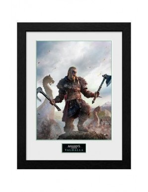 Assassins Creed Valhalla poster encadré Collector Print Gold Edition
