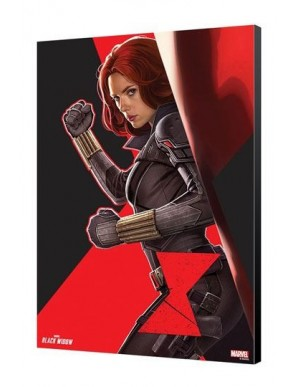 Black Widow Movie tableau en bois BW Side 34 x...