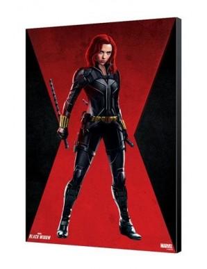Black Widow Movie tableau en bois BW Red Room 34 x 50 cm