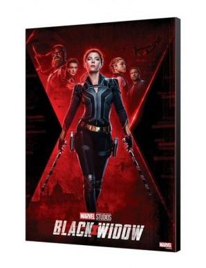 Black Widow Movie tableau en bois BW Movie Poster 34 x 50 cm