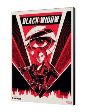 Black Widow Movie tableau en bois BW Moscow 34 x 50 cm