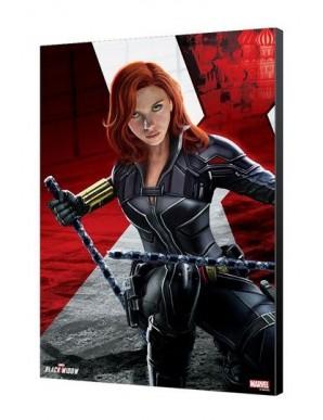 Black Widow Movie tableau en bois BW Kneeling 34 x 50 cm