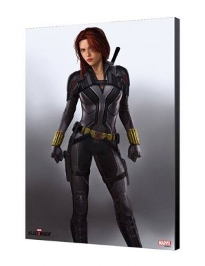 Black Widow Movie tableau en bois BW en Gris 34 x 50 cm