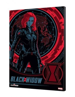 Black Widow Movie wooden board BW Blackops 34 x...