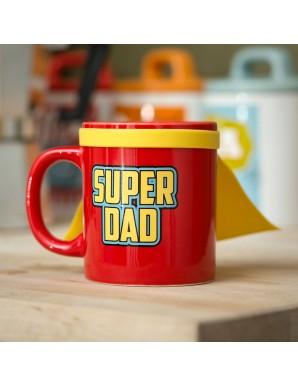 Super Dad mug avec cape