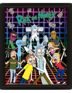 Rick et Morty personnages  Poster 3D