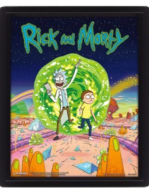 Rick et Morty Portail Poster 3D