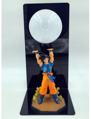 Dragon Ball Table Lamp 3d Figurine Son Goku Genkidama (Blanche)