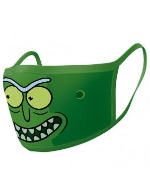 Rick et Morty pack 2 Masques en tissu Rick...