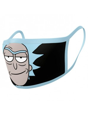 Rick et Morty pack 2 Masques en tissu Rick