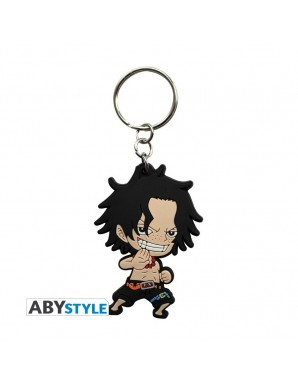 PVC Keychain - One Piece - Ace SD