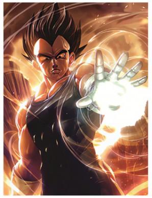 Poster Framed Dragon Ball - Vegeta -  3D Print...