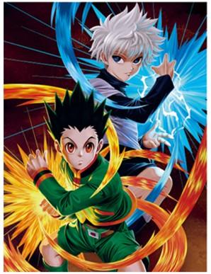 Poster Framed - Hunter x Hunter - Attack - 3D...