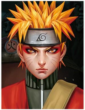 Décor Mural Encadré - Naruto - Visage -...