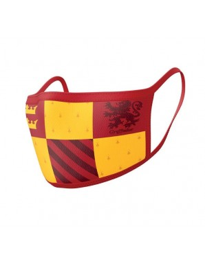 Harry Potter pack 2 Masques en tissu Gryffindor