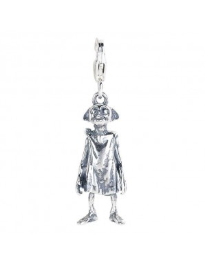 Harry Potter charme argent Clip-On Dobby l'elfe de maison (argent sterling)