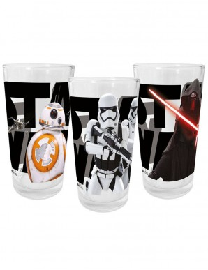 Star Wars VII pack 3 glasses